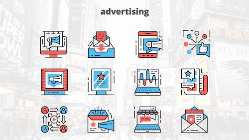 Advertising – Thin Line Icons