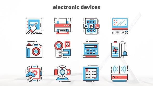 Thumbnail for Electronic Devices – Thin Line Icons