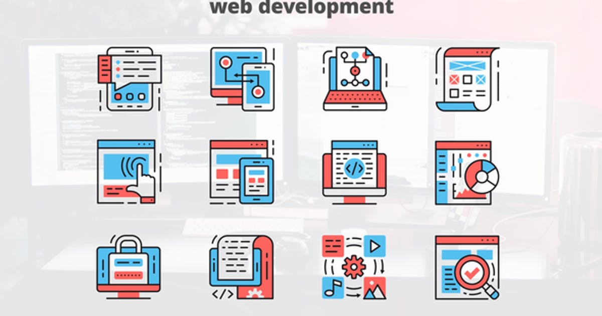 Download Web Development – Thin Line Icons by IconsX