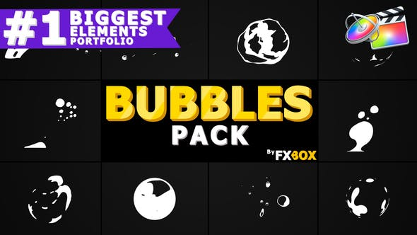 Thumbnail for Flash FX BUBBLE Elements | FCPX