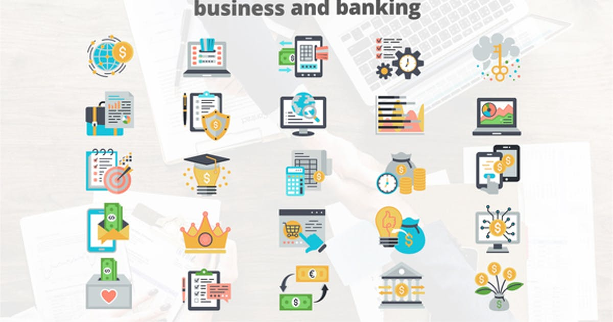 Download Business And Banking - Flat Animation Icons by IconsX