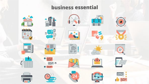 Business Elements – Flat Animation Icons