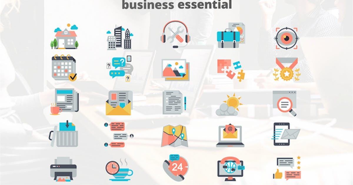 Business Elements – Flat Animation Icons by IconsX