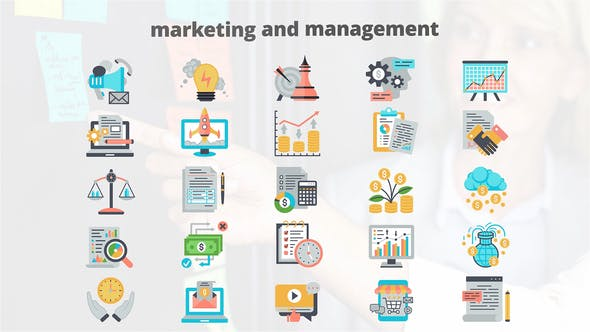 Thumbnail for Marketing And Managment – Flat Animation Icons