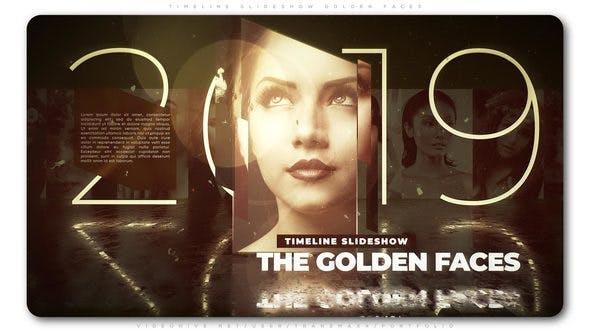Thumbnail for Timeline Slideshow Golden Faces