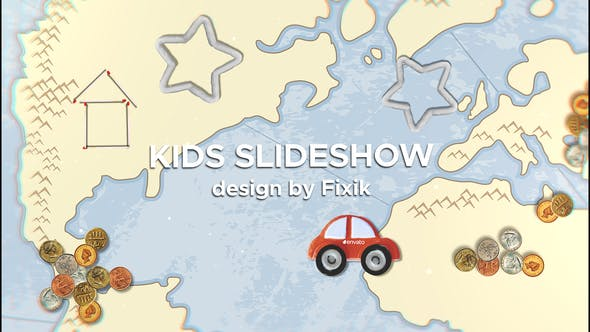 Thumbnail for Kids Slideshow II  | After Effects Template
