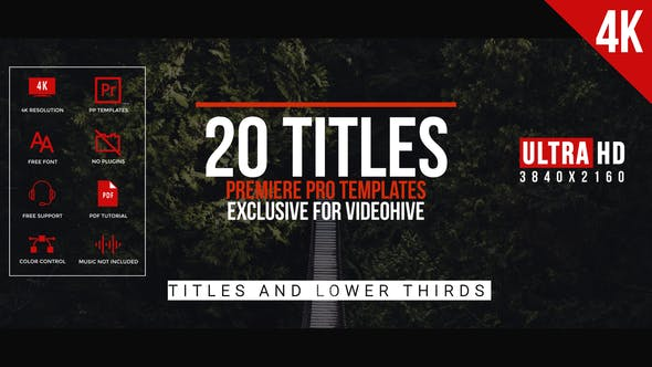 Thumbnail for Modern Minimal Titles For Premiere Pro