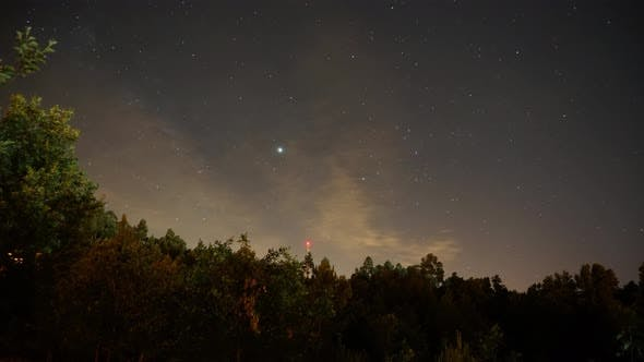 Cloudy Sky And Stars Time Lapse