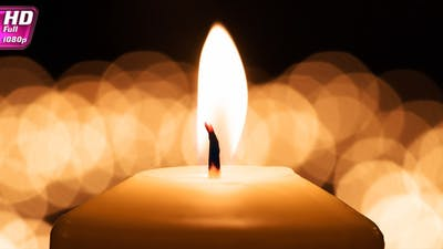Candle With Flickering Background