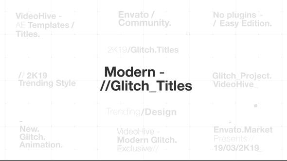 Thumbnail for Modern Glitch Titles