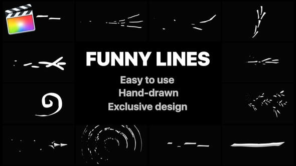 Flash FX Funny Lines   FCPX