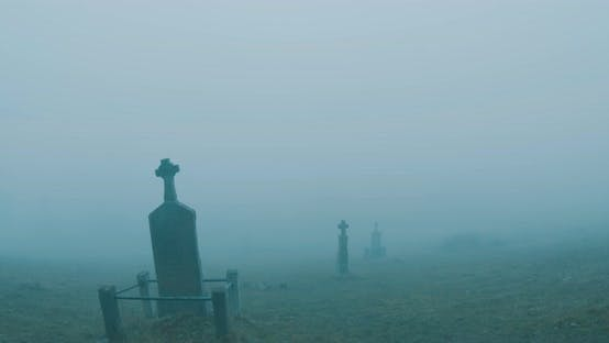Thumbnail for Cemetery Foggy Crosses