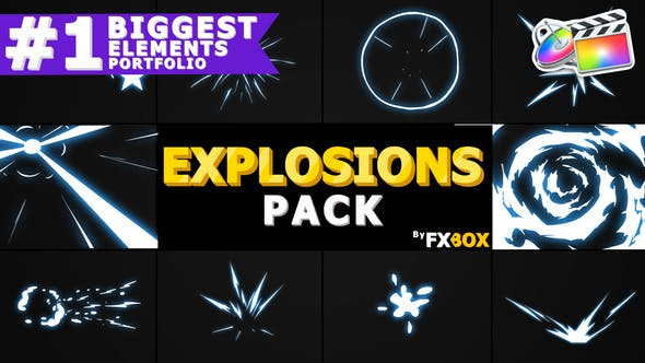 Cover Image for Hand Drawn Explosion Elements And Transitions | FCPX