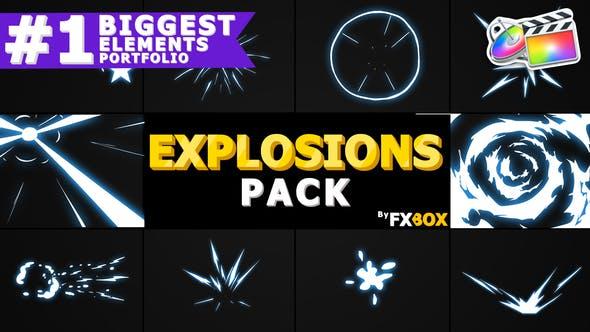 Thumbnail for Éléments et transitions d'explosion dessinés à la main | FCPX