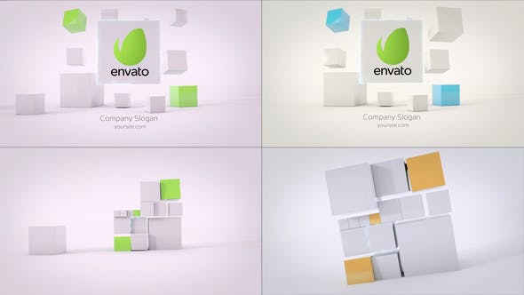 Thumbnail for Business Cubes Dynamic Logos