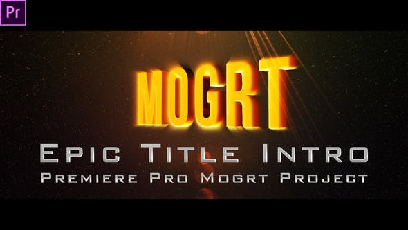 Thumbnail for Epic Title Intro (mogrt)