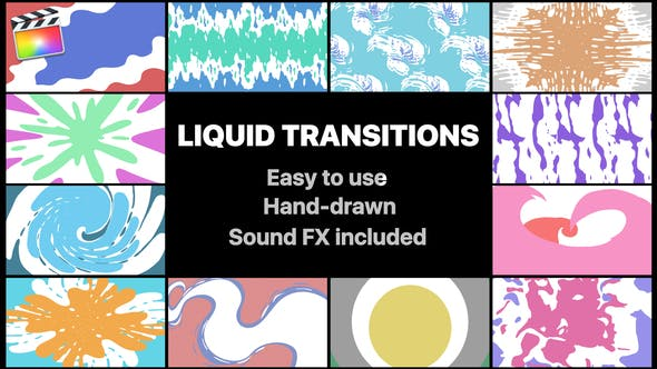 Thumbnail for Liquid Transitions Pack | Final Cut