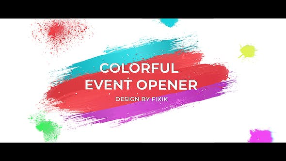 Thumbnail for Colorful Event Opener  | After Effects Template