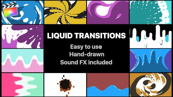 Thumbnail for Liquid Motion Transitions Pack | Final Cut