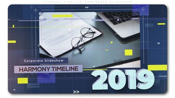 Thumbnail for Harmony Timeline Corporate Slideshow