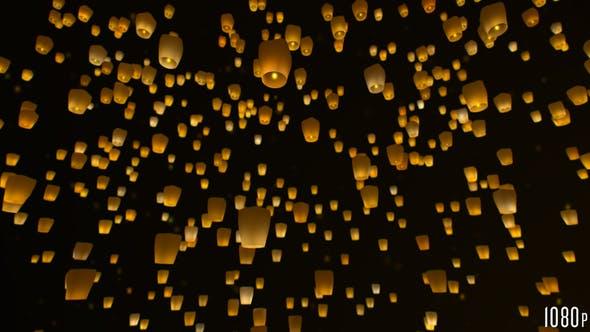 Thumbnail for Sky Lanterns Flying at Night