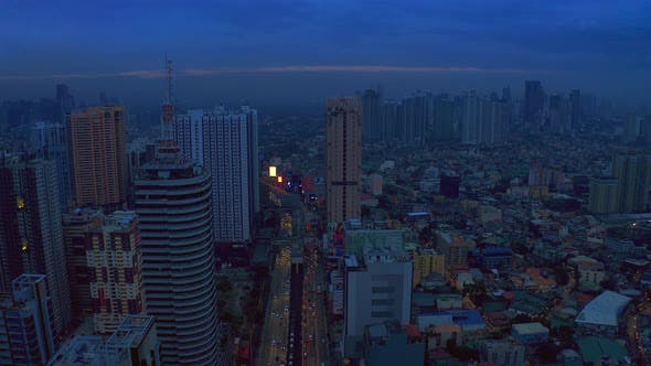 Thumbnail for Makati City Skyline and Modern Buildings Business District of Metro Manila