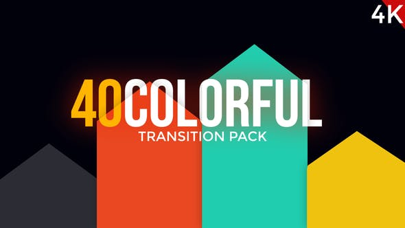 Thumbnail for Modern Colorful Transitions Pack