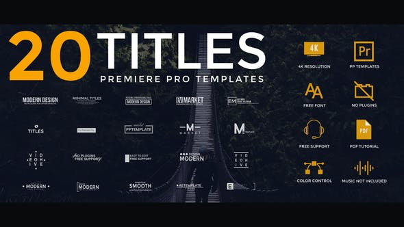 Thumbnail for Modern Clean Titles For Premiere Pro