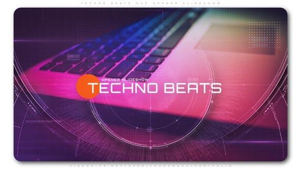Thumbnail for Techno Beats HUD Opener Slideshow
