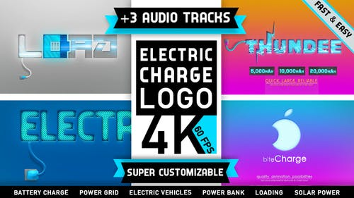 Electricity Battery Logo Charge