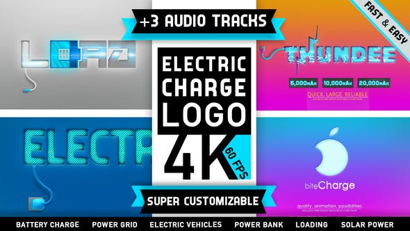 Thumbnail for Electricity Battery Logo Charge