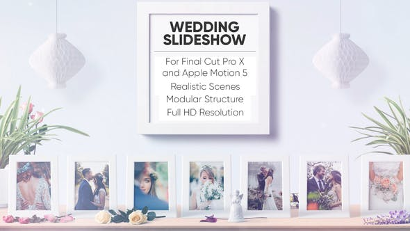 Thumbnail for Wedding Slideshow for FCPX and Apple Motion 5