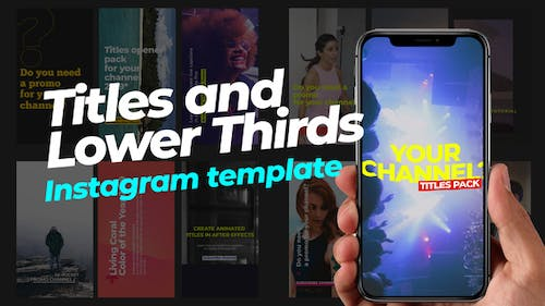 70 Instagram Stories   Titles and Lower Thirds