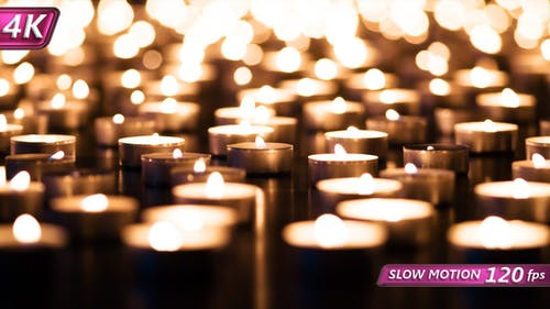 Candle Field And Depth Of Field