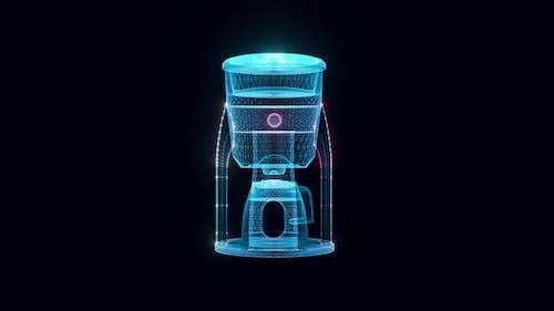Filter Coffee Machine Hologram Rotating Hd