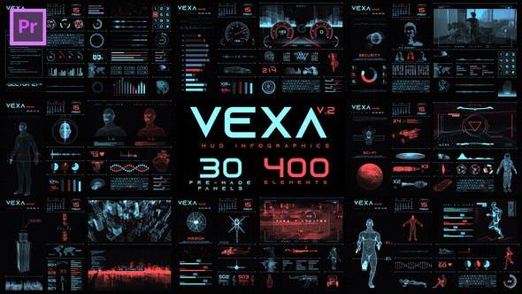 Vexa HUD Infographics Essential Graphics   Mogrt