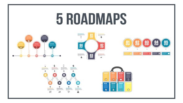 """204 """"infographic"""" Elements Video Templates Compatible with"""