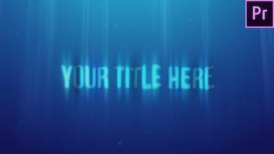 Underwater Title Reveal