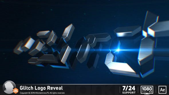 Cover Image for Glitch Logo Reveal