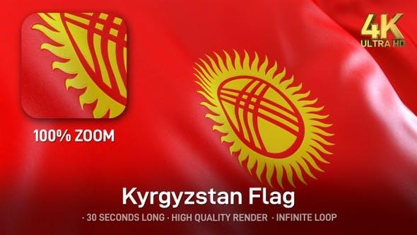 Thumbnail for Kyrgyzstan Flag - 4K