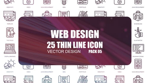 Web Design – Thin Line Icons