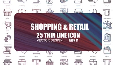 Shopping And Retail – Thin Line Icons