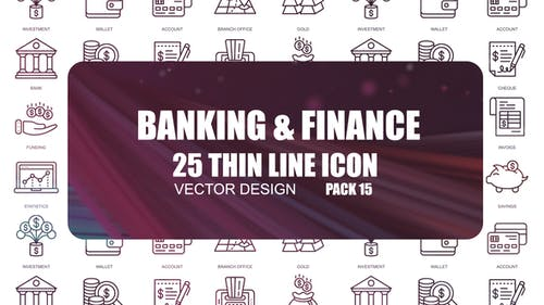 Banking And Finance – Thin Line Icons