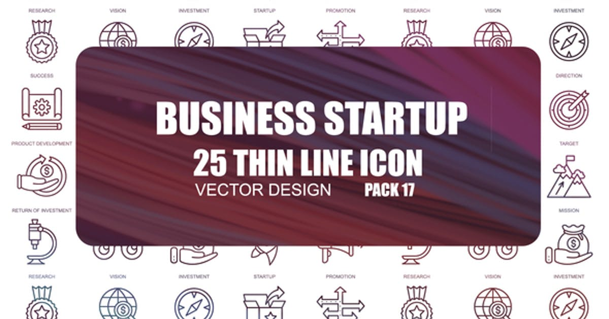 Download Business Startup – Thin Line Icons by IconsX