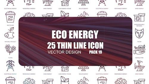 Eco Energy – Thin Line Icons