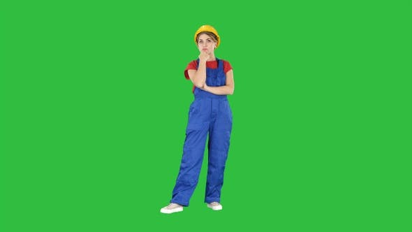 Thumbnail for Woman in construction uniform listening to instructions