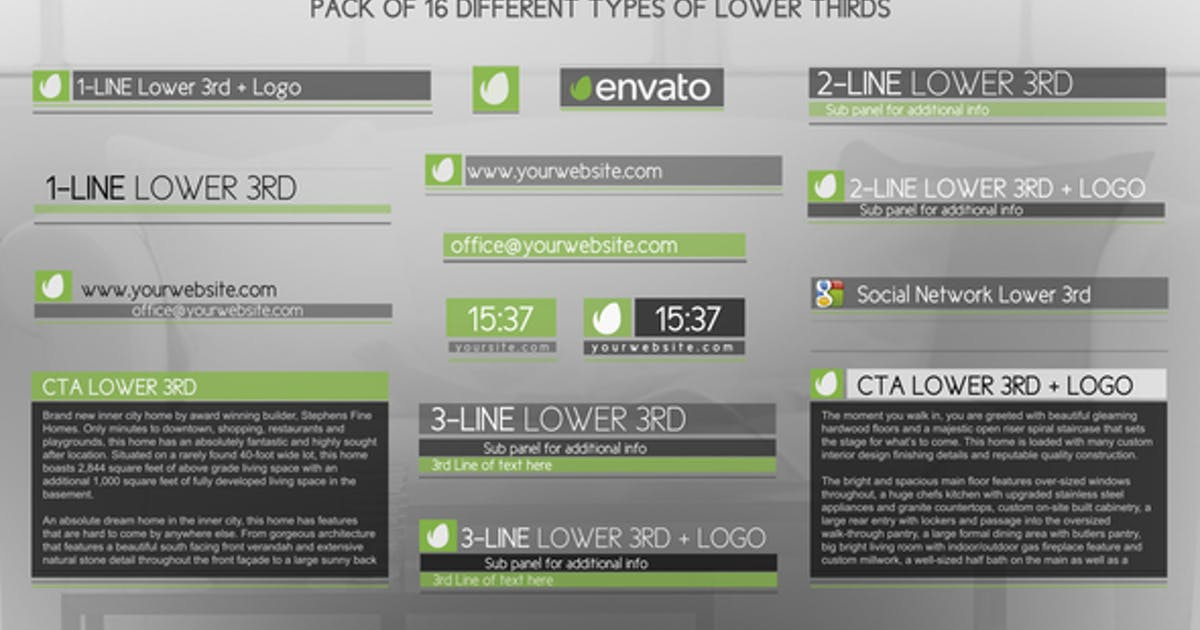 Download Discreet Simple And Modern Lower Thirds Package by IronykDesign