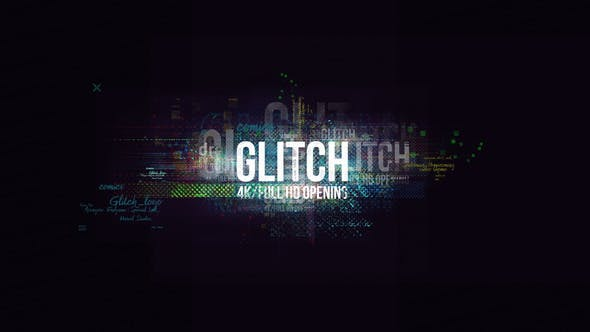Glitch Logo/ Digital Hi-Technology Introductions/Distorsion Transitions/ Hud Opener/Youtube Blogger/ Texte