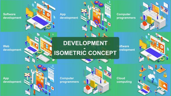 Thumbnail for Digital Development - Isometric Concept