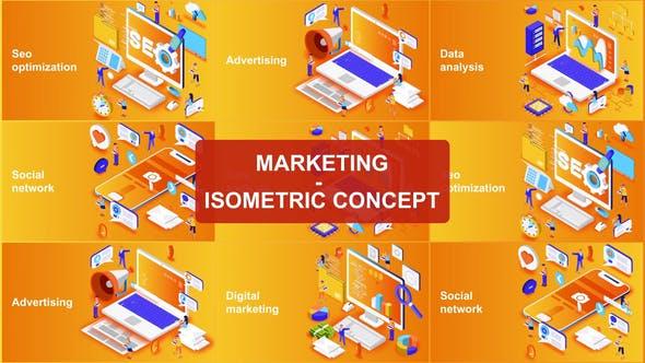 Thumbnail for Marketing - Concept isométrique
